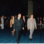 Offcial Party entering the Grand Hall. Front (left) His  Excellency Peter Sinclair and Mr.Gordon Todorovich. Mrs. Sinclair(behind)  with Dr. Gregory Marcar.